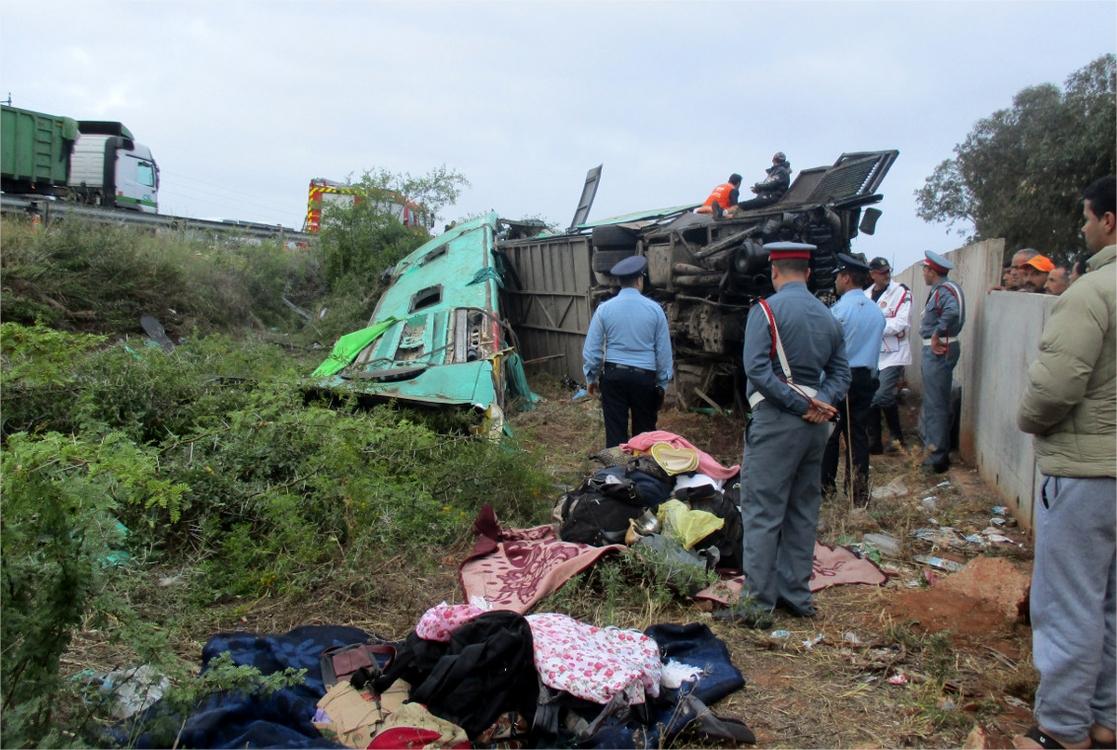 Mohammedia : 4 morts dans un accident d'autocar sur l'autoroute