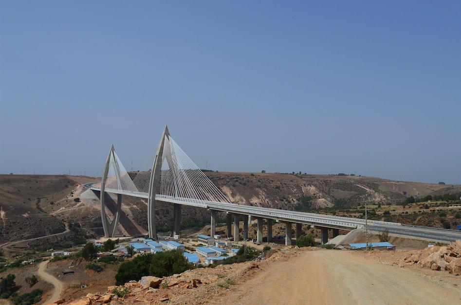 le nouveau pont à haubans de Rabat
