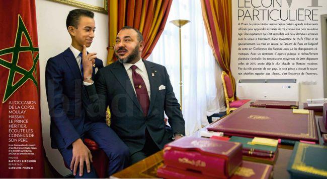 L'histoire derrière la photo du Roi Mohammed VI et son fils